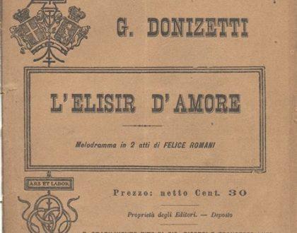 """""""L'elisir d'amore"""" di Gaetano Donizetti"""