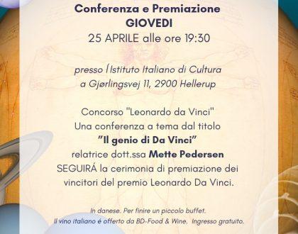 Il Genio di Da Vinci - Conferenza e premiazione vincitori concorso PREMIO LEONARDO DA VINCI