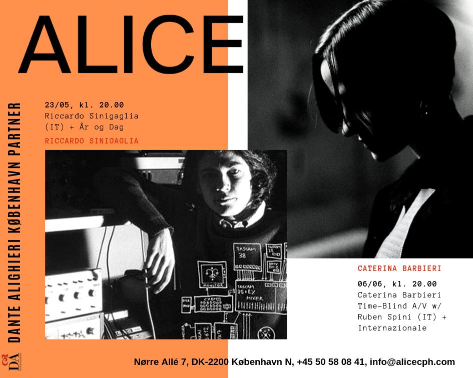 Markante elektroniske musikere fra Italien på ALICE